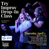 JCC Theater Drop In Class FB EVENt cover
