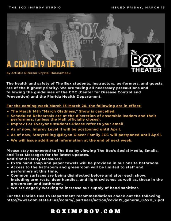 An Update for The Box Theater